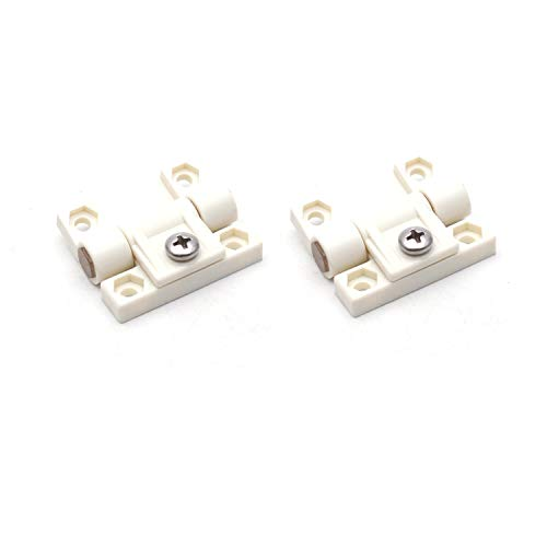 (Antrader 2 Pack 43mmx36mm 4 Countersunk Holes Plastic Adjustable Torque Position Control E6-10-301-20 Series Hinge White Door)