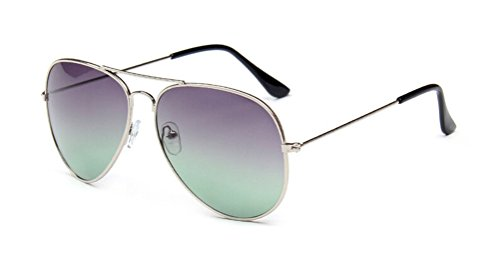 GAMT Classic Personality Aviator Oversized Sunglasses with Metal Frame for Men and Women Grey - Frame Glasses Cartier Gold