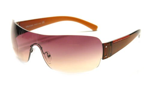 Amazon.com: Authentic Prada anteojos de sol SPS 07 F café 4 ...
