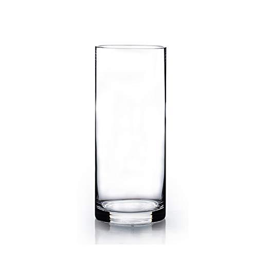WGVI Clear Cylinder Glass Vase/Candle Holder - 5