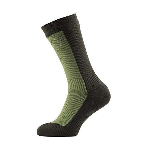 Sealskinz Hiking Mid Mid Walking Socks X Large Golden Moss Dark Olive