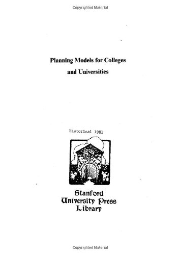 Planning Models for Colleges and Universities