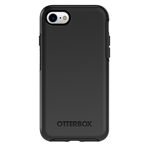 OtterBox SYMMETRY SERIES Case for iPhone 8 & iPhone 7 (NOT Plus) - Retail Packaging - BLACK (Best Slim Phone Case For Iphone 7)