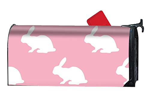 XPNiao Pink Silhouette of Bunny - Mailbox Makeover - Perfect Home Garden Gecor Magnetic Cover