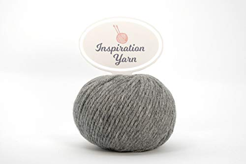 Inspiration Yarn 100% Cashmere Yarn/Needle Size 4mm/63 yards/25 Grams (DK, Grey)
