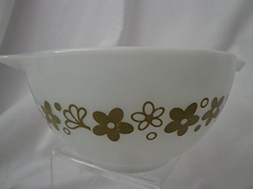 Spring Blossom Crazy Daisy Green PYREX Mixing Bowl 1 1/2 Pint