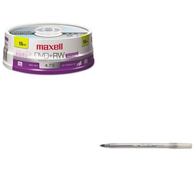 KITBICGSM11BKMAX634046 - Value Kit - Maxell DVDRW Discs (MAX634046) and BIC Round Stic Ballpoint Stick Pen (BICGSM11BK) by Maxell