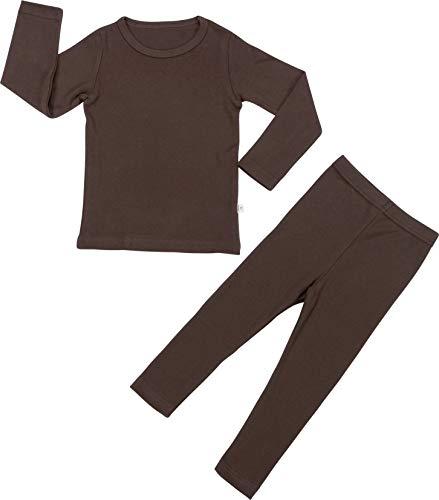 Baby Boys Girls Pajama Set 6M-8T Kids Cute Toddler Snug fit Pjs Cotton Sleepwear (Brown-2 ()