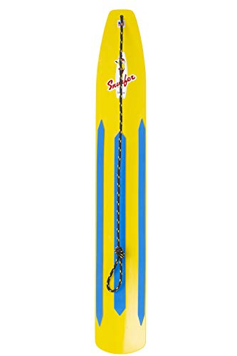 WODFitters - SNURFER - The Classic Snow Surfer - Snow Surfer Board - Great Snowboarding Alternative - Sunburst Yellow/Rocket Red