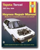 haynes toyota tercel 87 94 manual 92085 0038345021060 amazon rh amazon com 94 Toyota Tercel Snorkel Set 92 Toyota Tercel