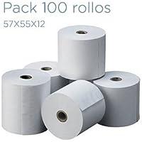 ROLLOS DE PAPEL TÉRMICO 57X55 - 100 unidades