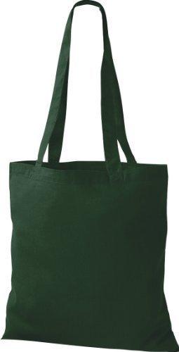 shirtinstyle Premium bolsa de tela bolsa de algodón Bolsa Comprador Bolso de Bandolera De Muchos Colores Verde Botella