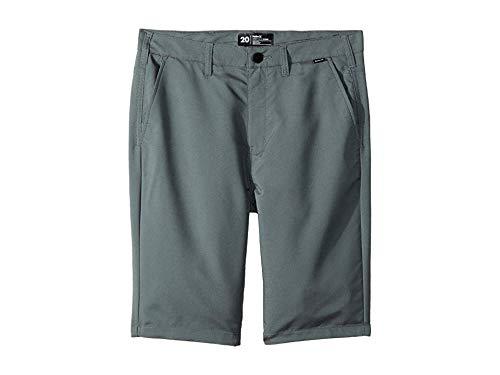 (Hurley Kids Boy's Dri-FIT¿ Chino Walkshorts (Big Kids) Cool Gray 20)