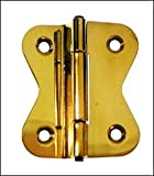 "Hoosier Cabinet Hinge Style D - 1-5/8"" - Polished Brass"