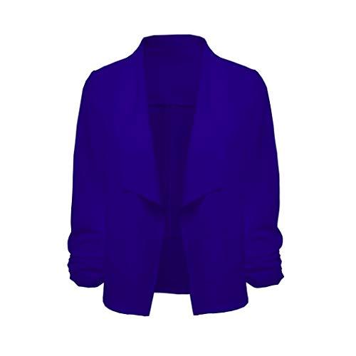 Uni Rond Nu Dos Chemisier Xmiral Femme Col Manches Bleu Longues 4wtUTqZxP