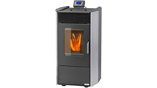 ROWI Pelletofen HPO 9,0 Easy Premium, Stahl grau, 8,14 kW, ext. Luftzufuhr