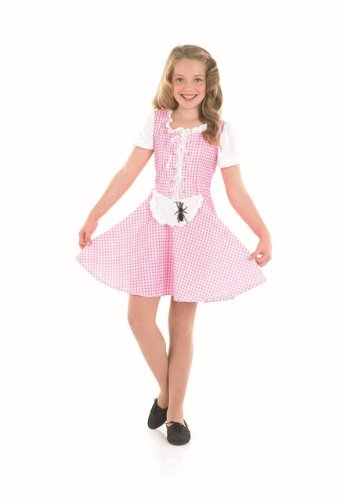 [Little Miss Muffett Childs Fancy Dress Costume - M 50inch Height] (2 Year Old Costumes Uk)
