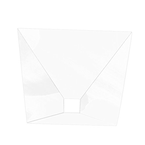 Jili Online Magic Box 360 3D Holographic Projection Pyramid Prism for iPad 6.5-12 inch Tablet DIY - Clear