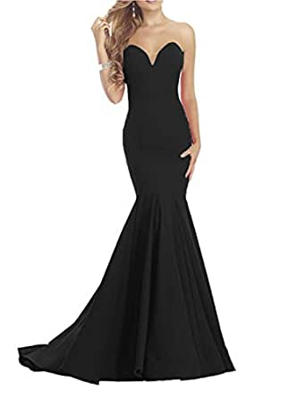 DreHouse Women's Long Evening Dress Sweetheart Mermaid Prom Dresses