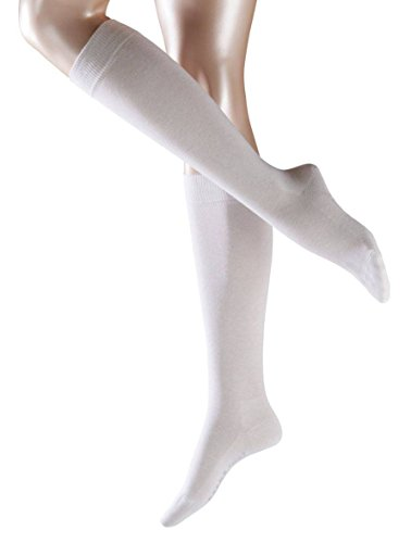 Falke Womens Family Knee High Socks - White - Medium/Large -