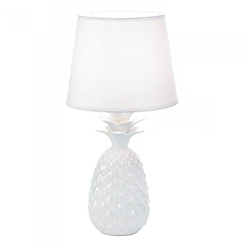 Porcelain Pineapple (White Pineapple Porcelain Table Lamp)