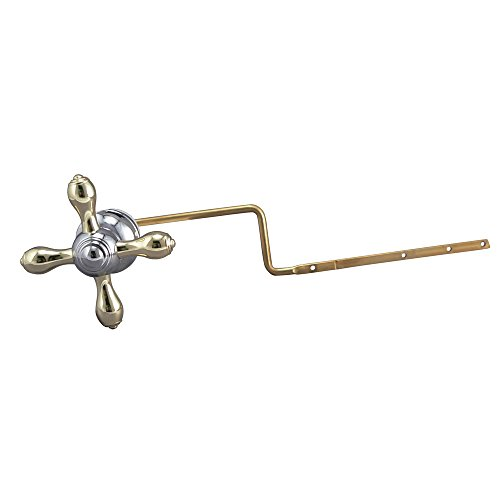Plumb Pak PP836-72CPPBL Universal Fit Toilet Tank Lever Cross Style Handle, Chrome and Brushed Nickel, Polished Brass