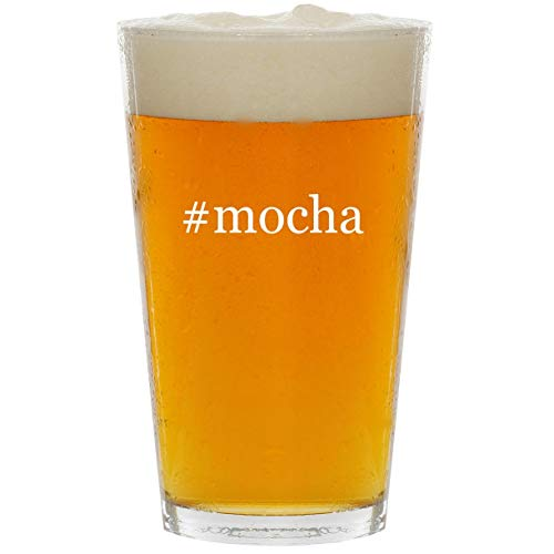 (#mocha - Glass Hashtag 16oz Beer Pint)