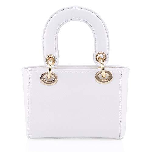 Femmes Mignon PU Epaule à blanc BBFB301 Barbie en Shopping Elegant Sac Porté série Mode la Bandoulière Moderne pour Main de à Filles HH1Pnqa