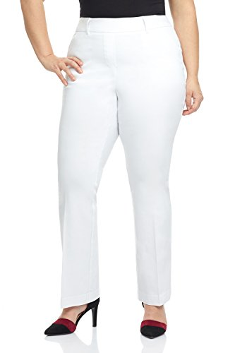 (Rekucci Curvy Woman Ease in to Comfort Fit Barely Bootcut Plus Size Pant)