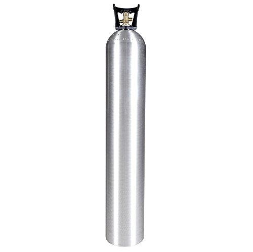 Aluminum Co2 Cylinder - New 50 lb Aluminum CO2 Cylinder with CGA320 Valve