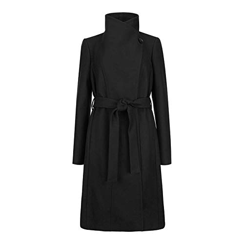 3b7b52d94fc7dd Ted Baker Lorili Long Button Detail Wrap Coat Black 8 (8)  Amazon.co.uk   Clothing