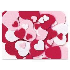 Chenille Kraft 4316 Wonderfoam Peel/Stick Hearts 264 Pcs/ST Ast]()