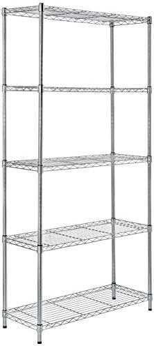 AmazonBasics 5 Shelf Shelving Unit Chrome product image