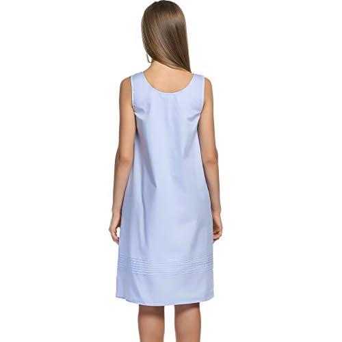 3e6866854 cheap HOTOUCH Womens Sleepwear Sleeveless Long Sleeve Cotton Sleepwear  Nightgown Plus Size S-XXL