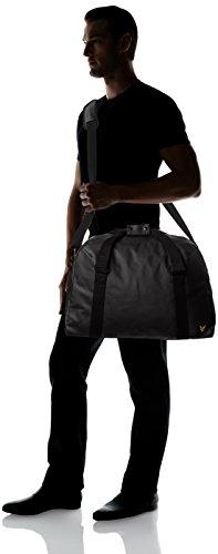 Lyle & Scott Coated Canvas Holdall - Bolsa de Asa Superior adultos unisex Negro (True Black)