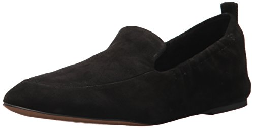 STEVEN by Steve Madden Women's Darsha Loafer Flat, Black Suede