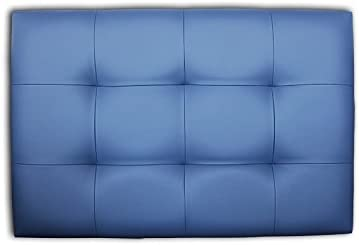 Imagen deVentadecolchones - Cabecero de Cama Tapizado Acolchado de Dormitorio en Polipiel con capitoné Modelo Tablet Azul y Medidas 136 x 70 cm para Camas de 120 ó 135