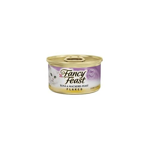 high-quality Fancy Feast Flaked Tuna & Mackerel Feast Canned Cat Food, 3 oz, 12 Cans
