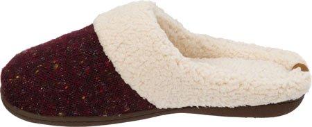 Dearfoams Womens Sparkle Tweed Knit Cabernet Slipper