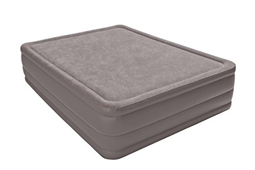 Intex Foam Top Elevated Airbed with Built-in Pump, Queen, Bed Height 20