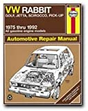 VW Rabbit, Golf, Jetta, Scirocco, Pick-up, 1975 Through 1992: All Gasoline Engine Models