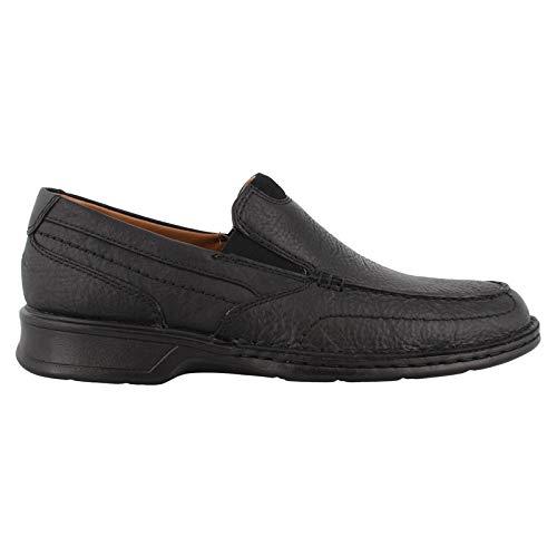 Clarks Mens Slip - Clarks Men's Northam Step Shoe, black oily leather, 100 W US