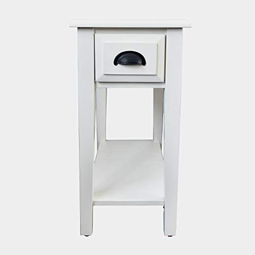 Bella Sullivan End Table, 22 L x 12 W x 23.5 H, White