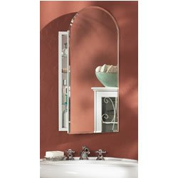 Medicine Arched Beveled Cabinet (Jensen 52WH244PA Metro Arch Medicine Cabinet with Beveled Mirror, 15-Inch by 31-Inch)