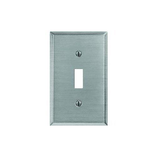 (Jackson Deerfield 9PT101 Steel Toggle Wall Plate, Brushed Nickel Finish)