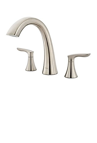 Pfister Weller RT6-5WRK 2-Handle Roman Tub Trim in Brushed Nickel (Polished Roman Nickel Tub)