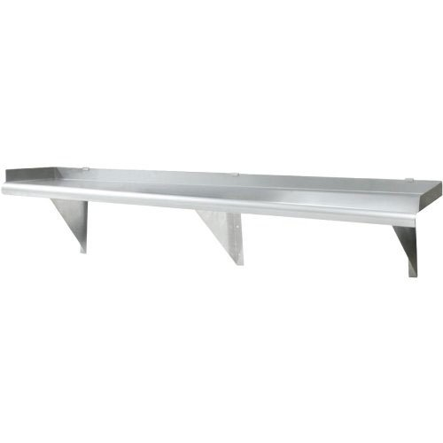 16'h Eagle (Eagle SWS1224-16/3 Shelf, Stainless Steel, Wall, 24 W x 12 D x 1 1/2