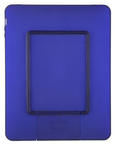 (Speck Products See Thru Satin Soft Touch Hard Shell Case for iPad, Blue, IPAD-SAT-A17)