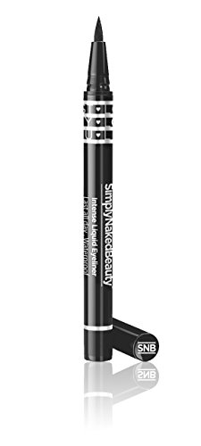 Intense Liquid Eyeliner by Simply Naked Beauty. Last All Day, Waterproof, Smudge Free eye liner. The best eyeliner for your waterline. Midnight Black. Image