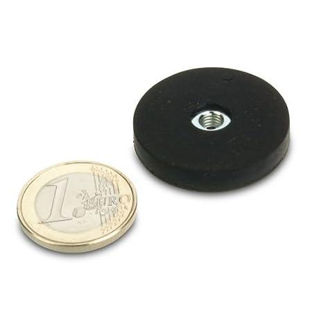 Starkes Neodym Magnetsystem /Ø 31 mm gummiert h/ält 7,5 kg Innengewinde M5